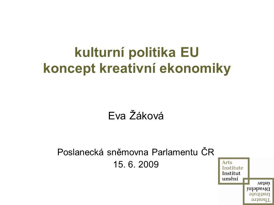 vývoj kulturní politiky EU čl.