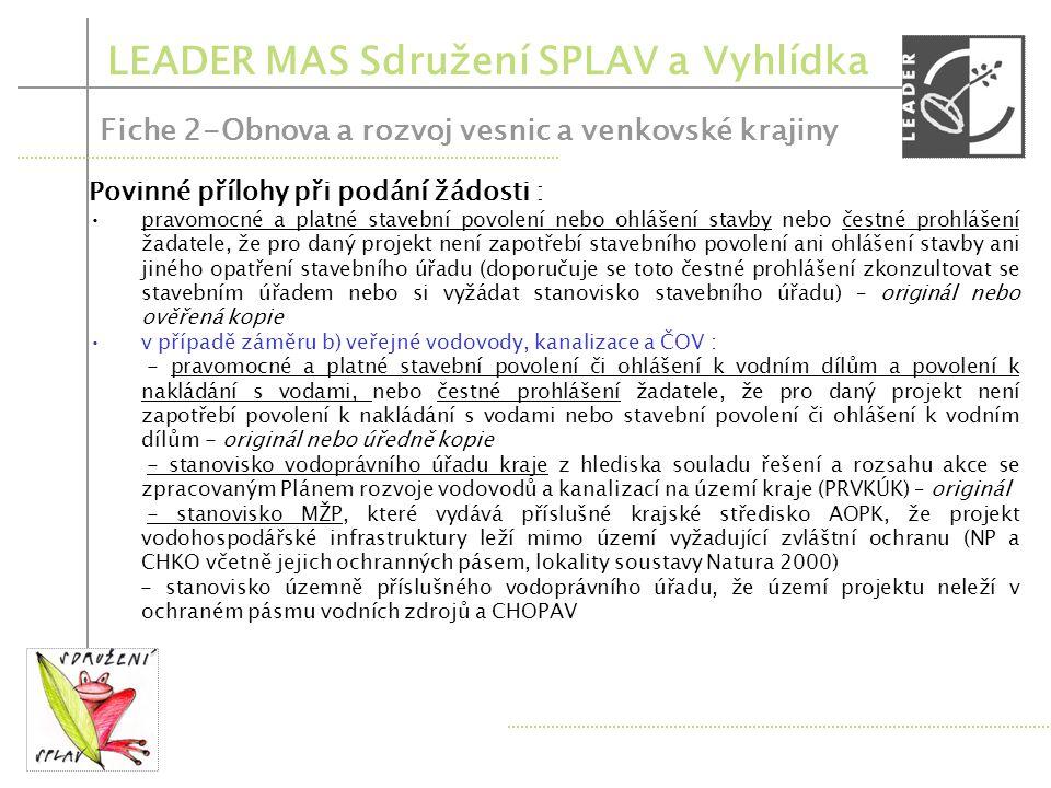Opatření PRV – 2.1.1.Obnova a rozvoj vesnic 2.1.2.Občanské vybavení a služby 2.2.Ochrana a rozv.