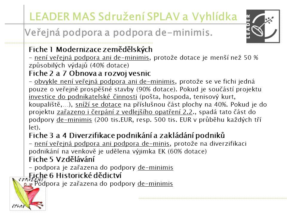 LEADER MAS Sdružení SPLAV a Vyhlídka Registrace projektů – 1.týden března 2011 – přijatelnost výdajů! Kontrola výběrového procesu, příp. výzva k odstr