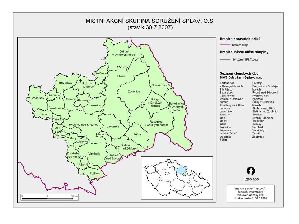 LEADER MAS Sdružení SPLAV a Vyhlídka Osnova prezentace : 1. Strategický plán LEADER 2007-13 na území MAS Sdružení SPLAV, o.s. a Vyhlídka, o.s. 2. Fich