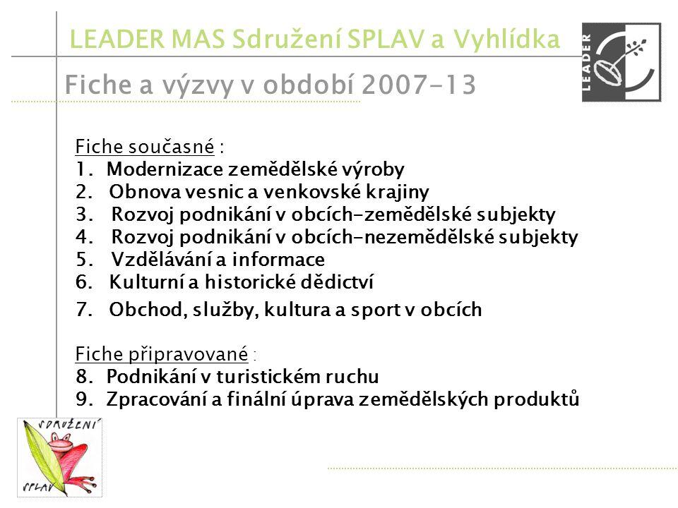 LEADER MAS Sdružení SPLAV a Vyhlídka Registrace projektů – 1.týden března 2011 – přijatelnost výdajů.