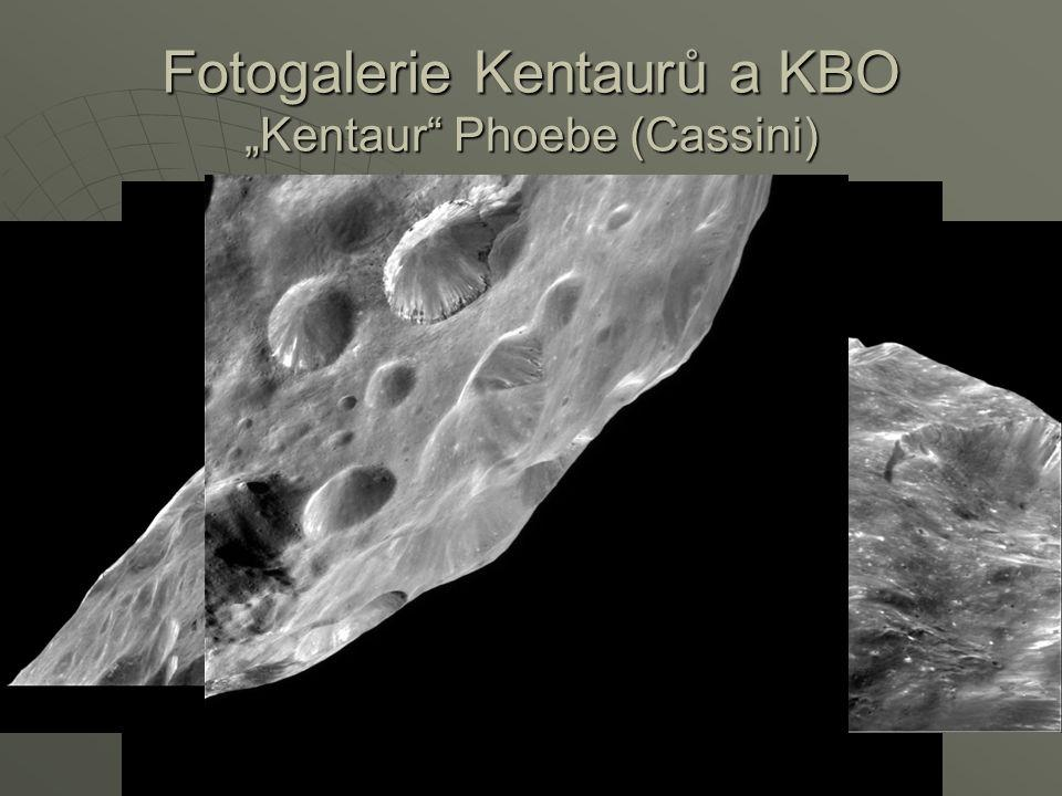"Fotogalerie Kentaurů a KBO ""Kentaur"" Phoebe (Cassini)"