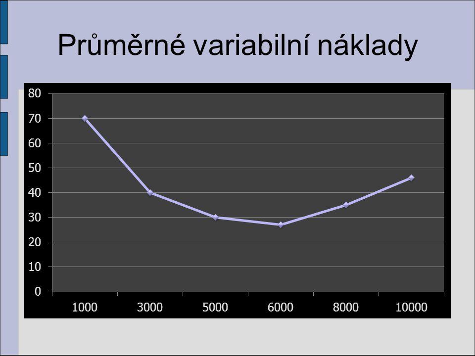 Průměrné variabilní náklady