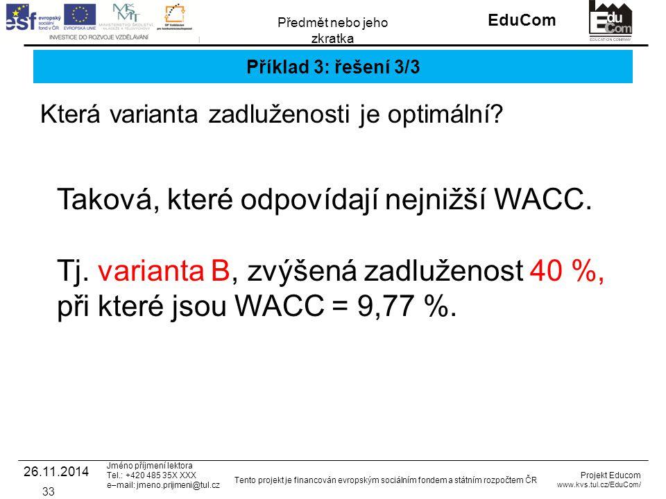 INVESTICE DO ROZVOJE VZDĚLÁVÁNÍ EduCom Projekt Educom www.kvs.tul.cz/EduCom/ Tento projekt je financován evropským sociálním fondem a státním rozpočte