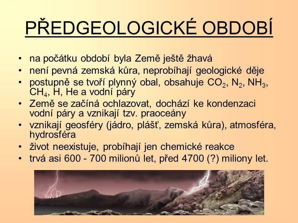 PRVOHORY GEOLOGICKÝ VÝVOJ: KALEDONSKÉ A HERYNSKÉ (VARISKÉ) VRÁSNĚNÍ = horotvorné děje, doprovázené magmatickou činností, vznikly vyvřelé a přeměněné horniny