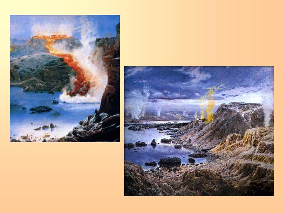 BIOLOGICKÝ VÝVOJ = VÝVOJ ŽIVOTA: KAMBRIUM A ORDOVIK ve vodním prostředí vznikli trilobiti, ostnokožci a první obratlovci, rozvíjely se řasy.