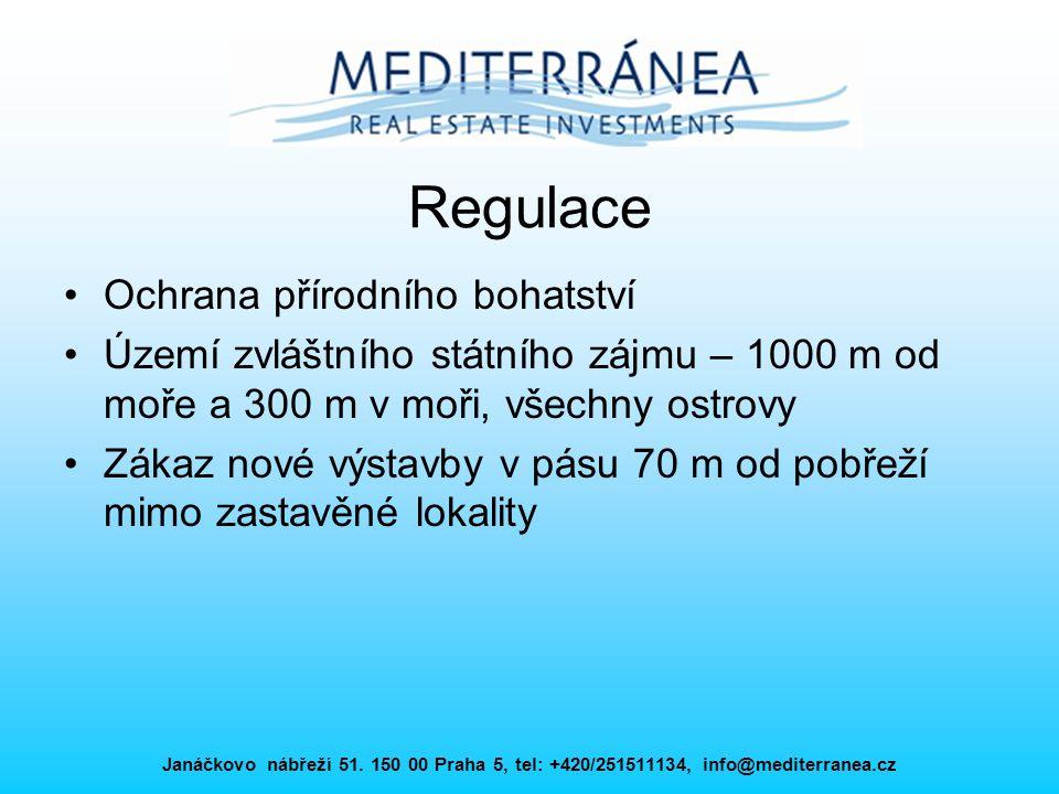 Janáčkovo nábřeží 51. 150 00 Praha 5, tel: +420/251511134, info@mediterranea.cz Regulace Ochrana přírodního bohatství Území zvláštního státního zájmu