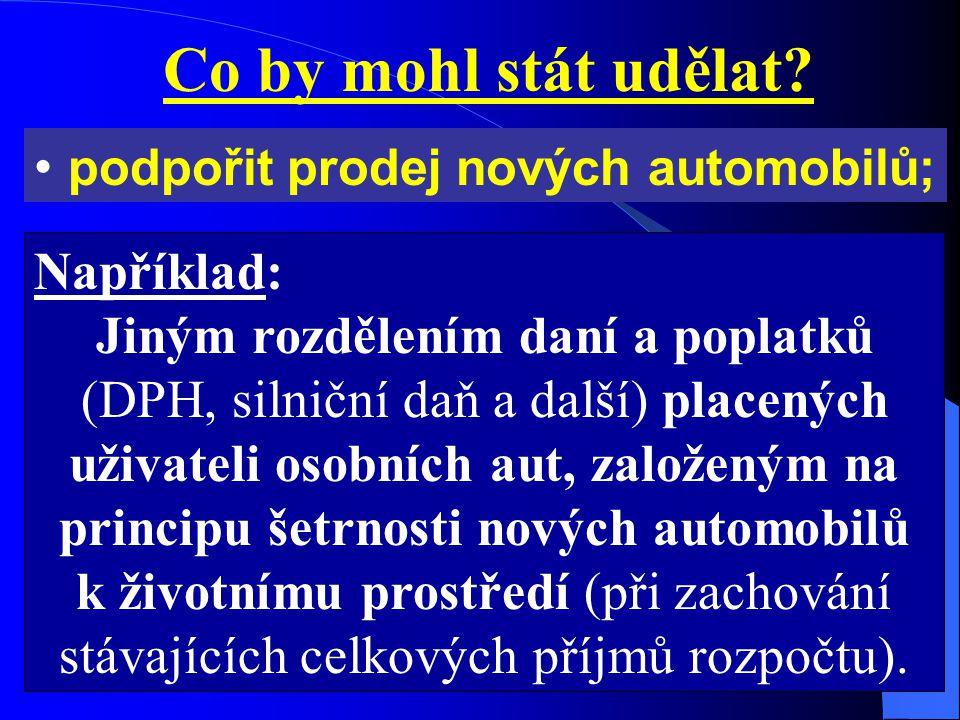 Co by mohl stát udělat. podpořit prodej nových automobilů; ALE JAK .
