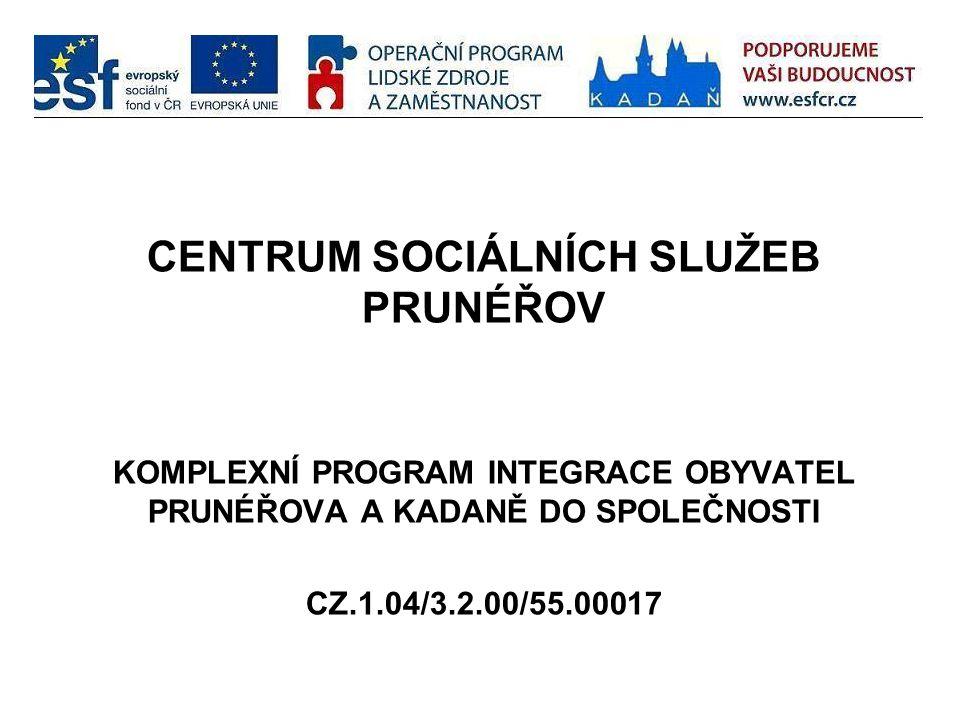 CENTRUM SOCIÁLNÍCH SLUŽEB PRUNÉŘOV KOMPLEXNÍ PROGRAM INTEGRACE OBYVATEL PRUNÉŘOVA A KADANĚ DO SPOLEČNOSTI CZ.1.04/3.2.00/55.00017