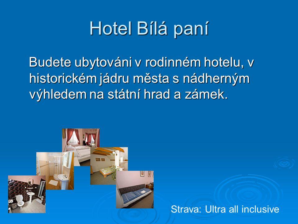 Hotel Bílá paní Budete ubytováni v rodinném hotelu, v historickém jádru města s nádherným výhledem na státní hrad a zámek. Budete ubytováni v rodinném