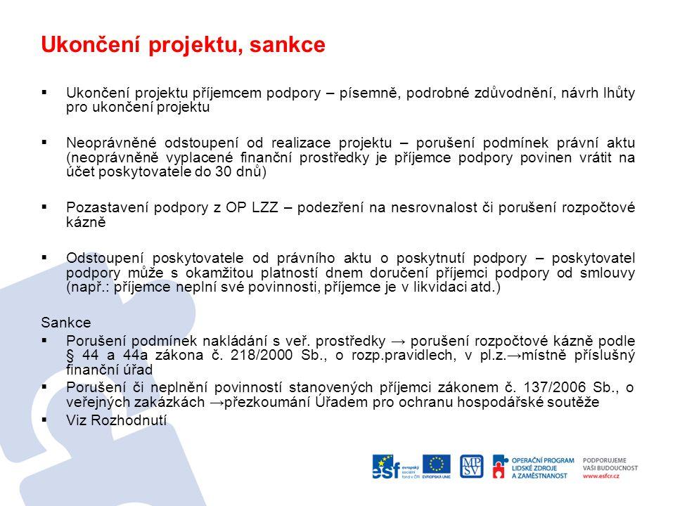 Povinnosti vyplývající z Nařízení č.1828/2006 informovat příjemce podpory a širokou veřejnost o tom, že daný projekt je spolufinancován z EU - dodržovat povinné minimum publicity poskytnout souhlas se začleněním na veřejně přístupný seznam příjemců