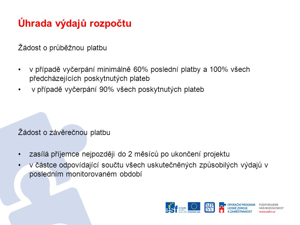 Používání loga ESF, vlajky EU, loga OP LZZ Manuál vizuální identity ESF v ČR Manuál vizuální identity OP LZZ