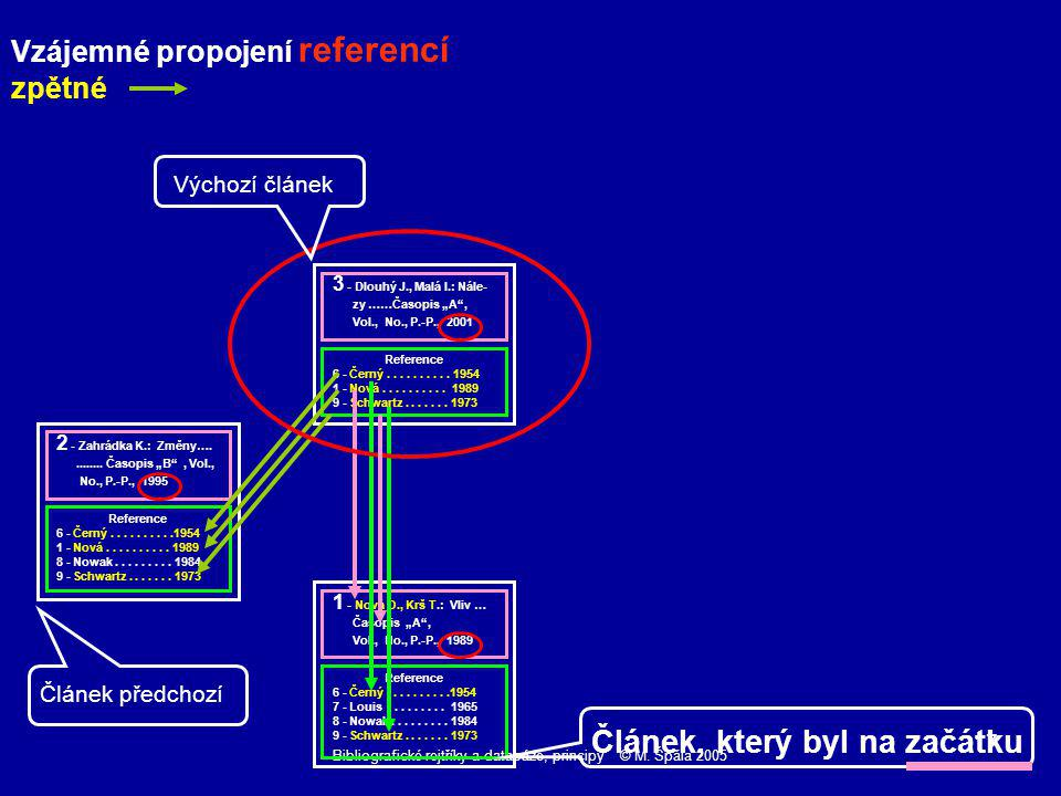 Bibliografické rejtříky a databáze, principy © M. Špála 2005 17 Reference 6 - Černý..........