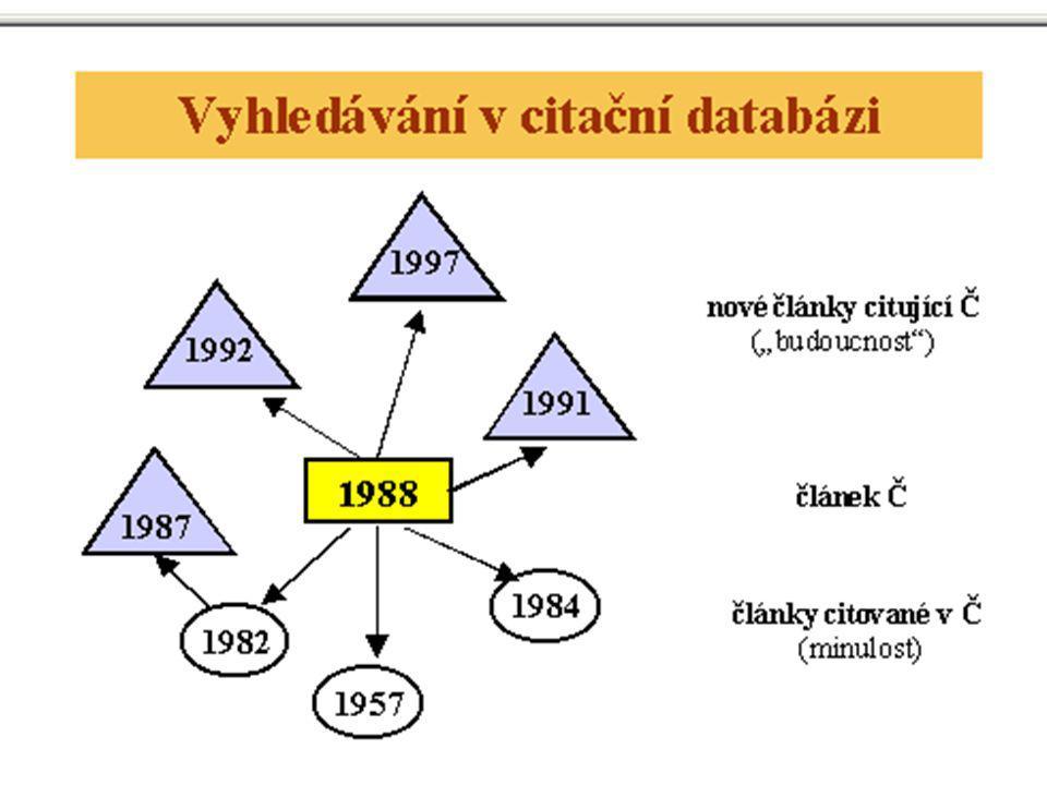 Bibliografické rejtříky a databáze, principy © M. Špála 2005 20