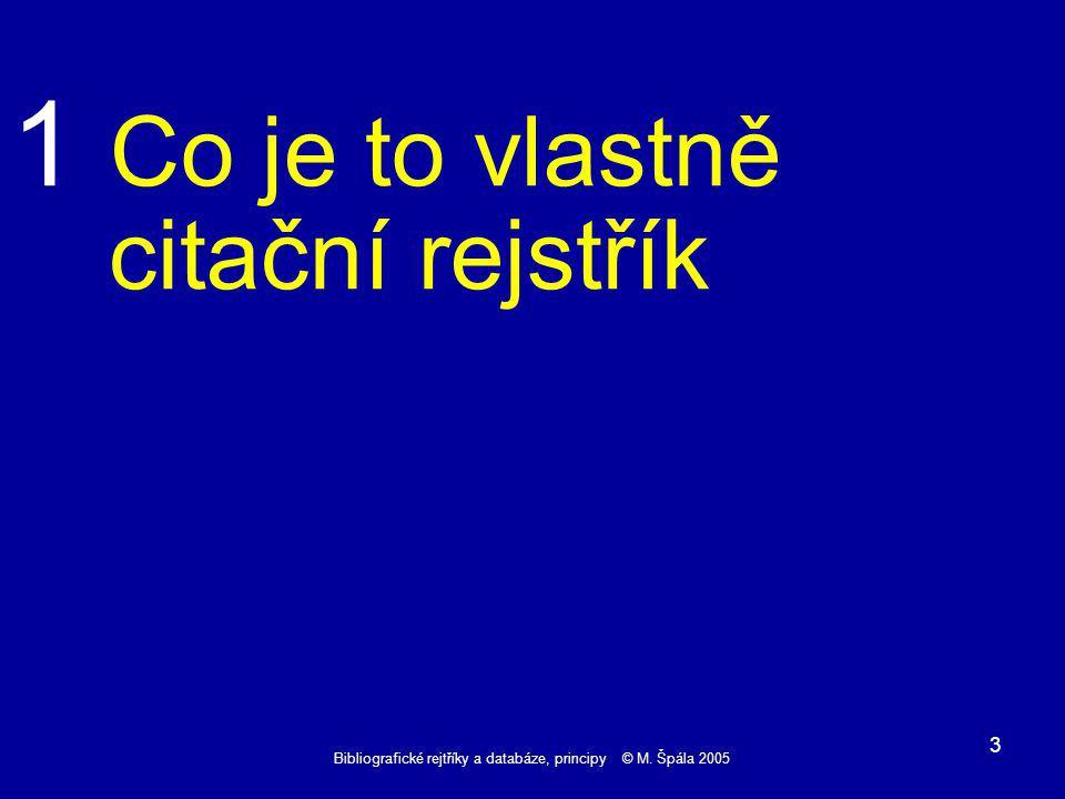 Bibliografické rejtříky a databáze, principy © M.Špála 2005 24 TEXT.