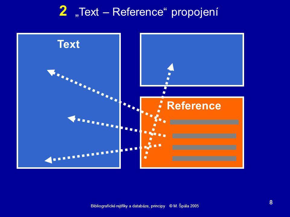 Bibliografické rejtříky a databáze, principy © M.Špála 2005 19 Reference 6 - Černý..........