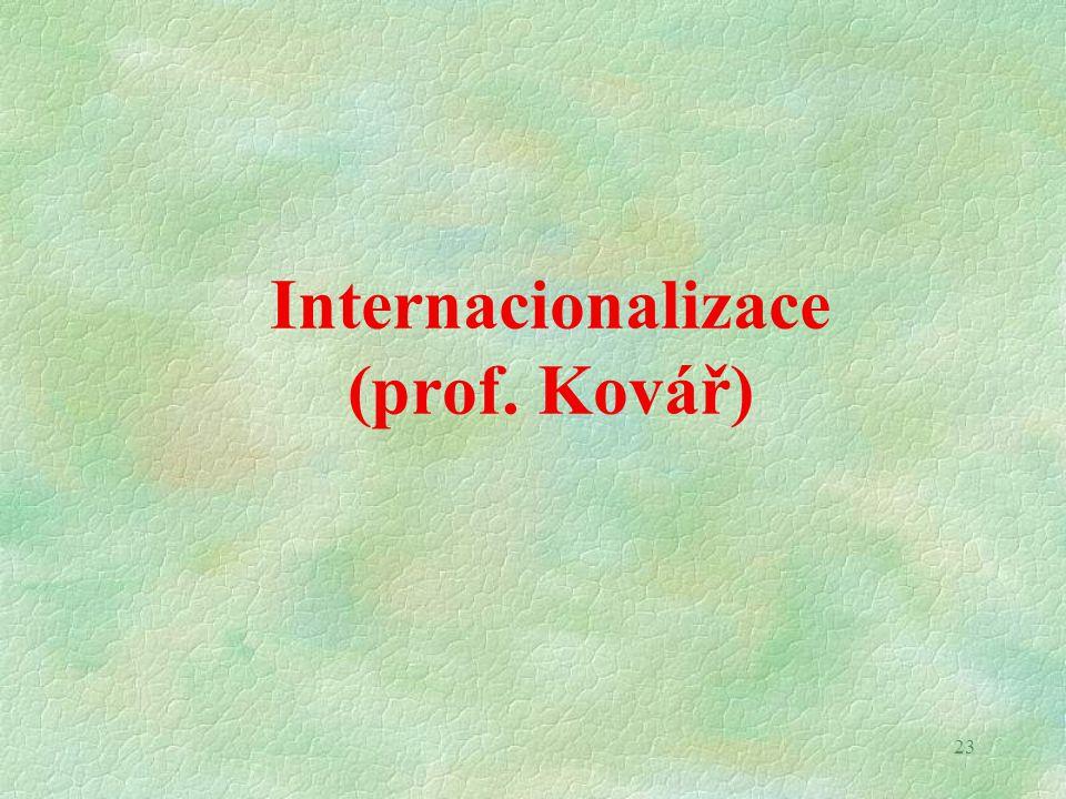 23 Internacionalizace (prof. Kovář)