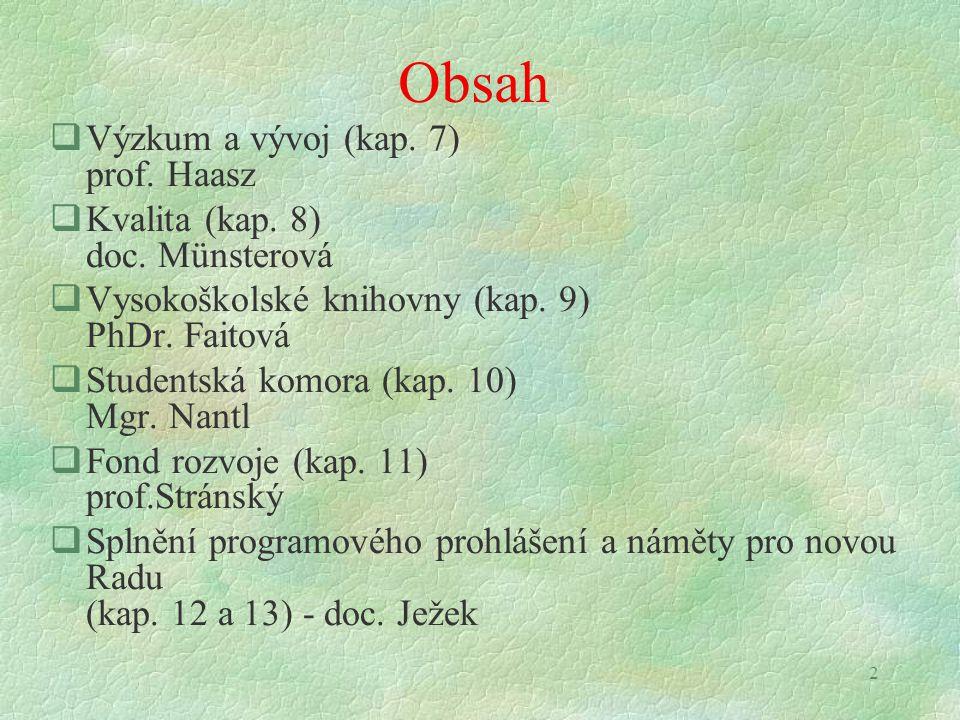 33 Vzdělávací činnost (prof. Bednář)