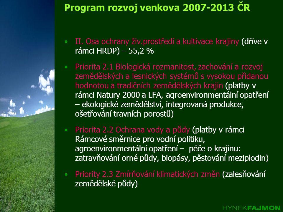 Program rozvoj venkova 2007-2013 ČR II.