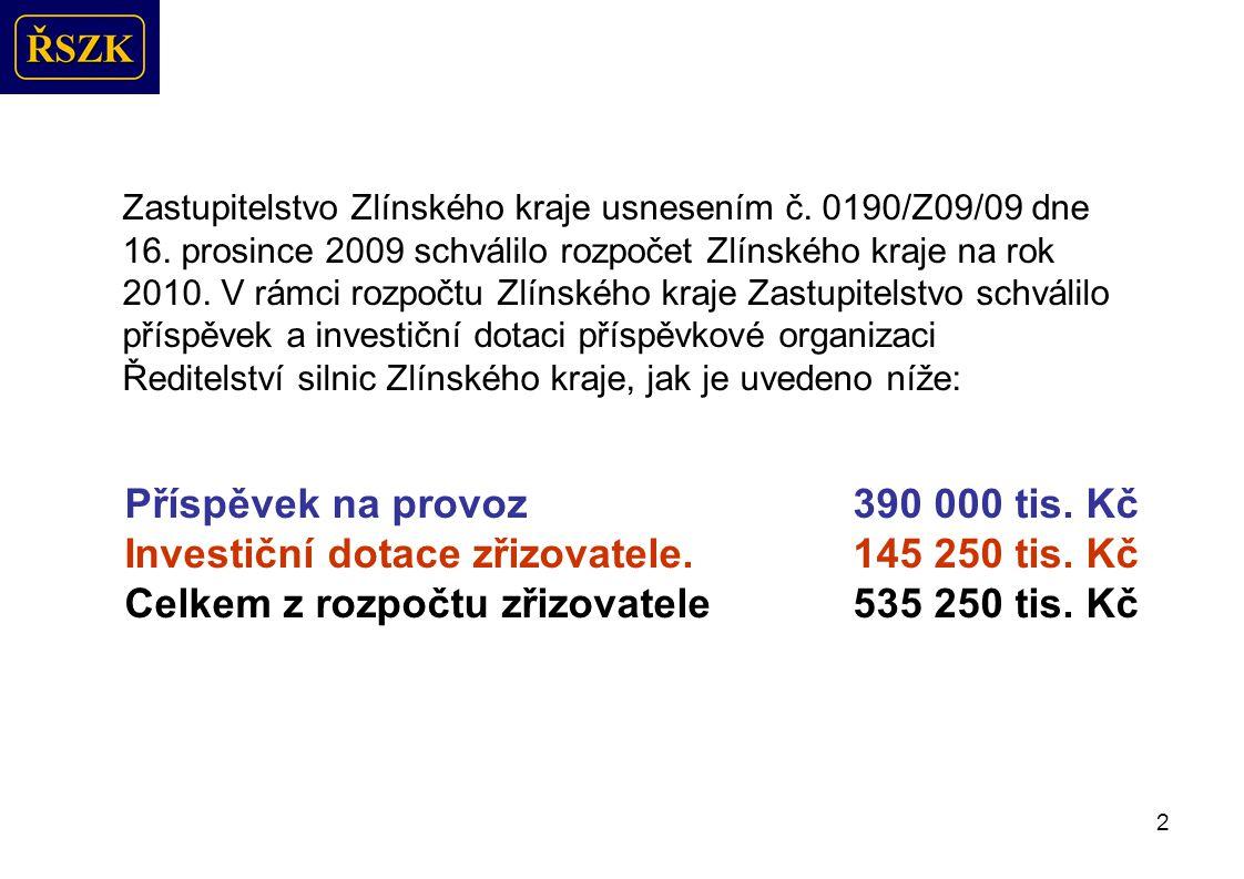 2 Zastupitelstvo Zlínského kraje usnesením č.0190/Z09/09 dne 16.