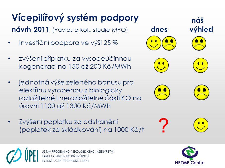 ÚSTAV PROCESNÍHO A EKOLOGICKÉHO INŽENÝRSTVÍ FAKULTA STROJNÍHO INŽENÝRSTVÍ VYSOKÉ UČENÍ TECHNICKÉ V BRNĚ Elektřina z KVET a užitečné teplo Elektřina z KVET Celkové množství vyrobené elektřiny když: Celková účinnost u parní protitlaké turbíny > 75% Celková účinnost u kondenzační odběrové turbíny > 80% η celk = (E sv + E M + Q UŽ )/(Q PAL KJ ) Množství elektřiny z KVET E KVET = Q UŽ * C SKUT Kde: Cskut poměr mezi množstvím elektřiny z kombinované výroby elektřiny a tepla a množstvím užitečného tepla při jeho nejvyšší výrobě v běžném provozu