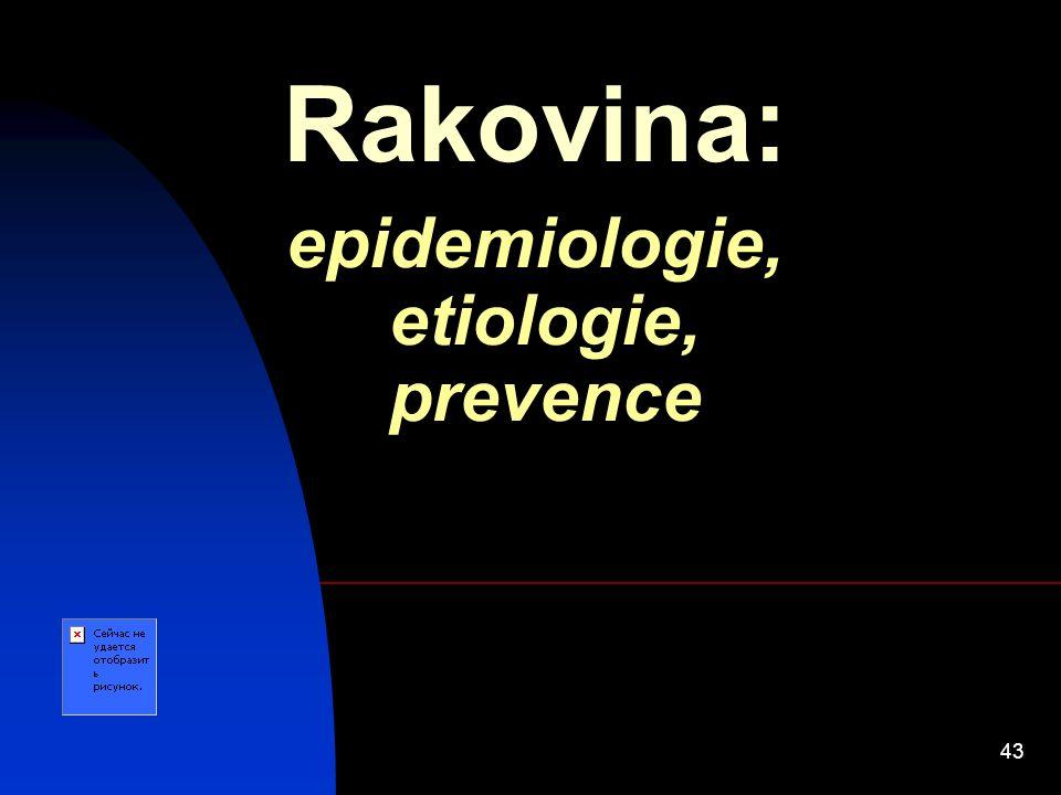 43 Rakovina: epidemiologie, etiologie, prevence