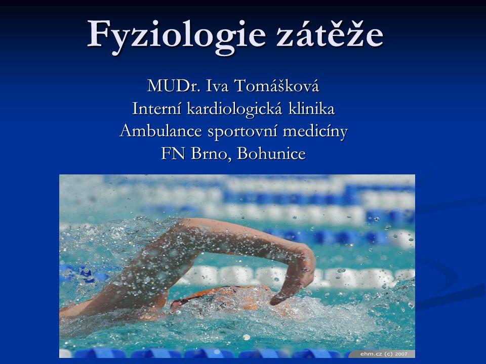 Fyziologie zátěže MUDr. Iva Tomášková Interní kardiologická klinika Ambulance sportovní medicíny FN Brno, Bohunice