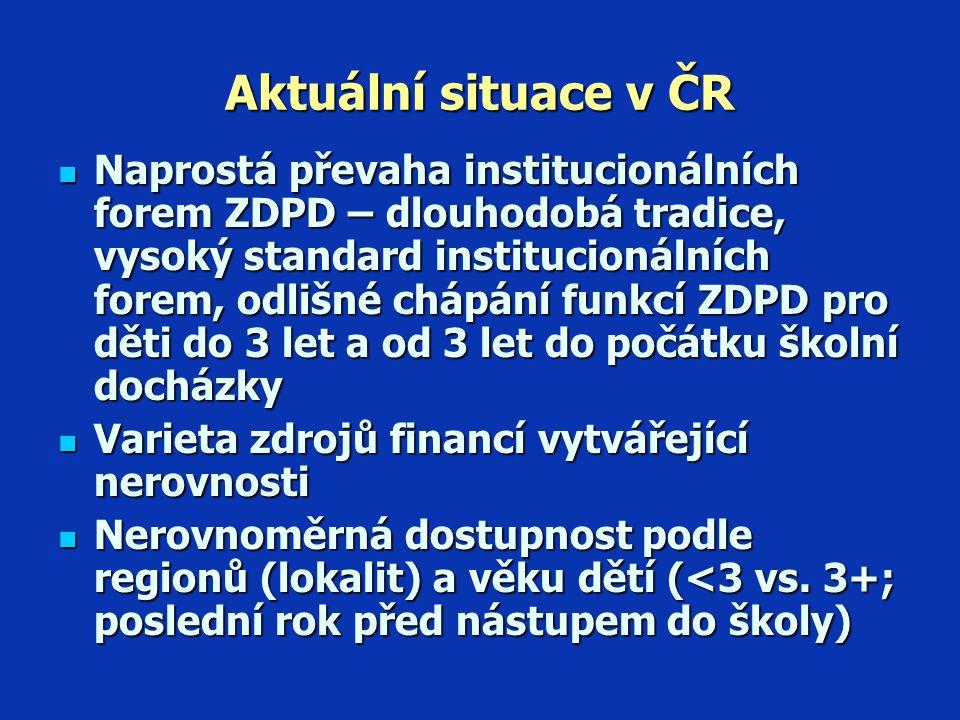 """Závěry Podpora alternativních forem SDPD - zájem státu – měly by se změnit podmínky jejich poskytování Podpora alternativních forem SDPD - zájem státu – měly by se změnit podmínky jejich poskytování  Zajistit kvalitu služeb právně zakotvenými požadavky na zřizovatele-provozovatele a kontrolami, ale nepodceňovat schopnost rodičů si kvalitu """"ohlídat → přehodnotit striktní pravidla  Snížit nákladnost alternativních forem: např."""