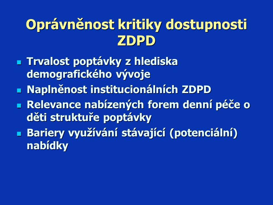 Preference v péči o malé děti (RZV 2006)