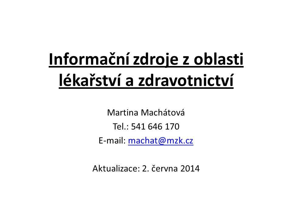Slovenská lekárska knižnica Vyhledávací maska