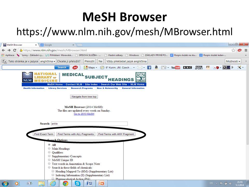 PubMed Health http://www.ncbi.nlm.nih.gov/pubmedhealth/ Aplikace PubMedu pro informace z klinického výzkumu.