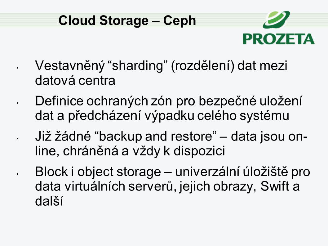 """Vestavněný """"sharding"""" (rozdělení) dat mezi datová centra Definice ochraných zón pro bezpečné uložení dat a předcházení výpadku celého systému Již žádn"""