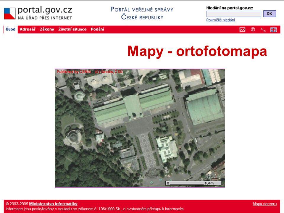 Mapy - ortofotomapa