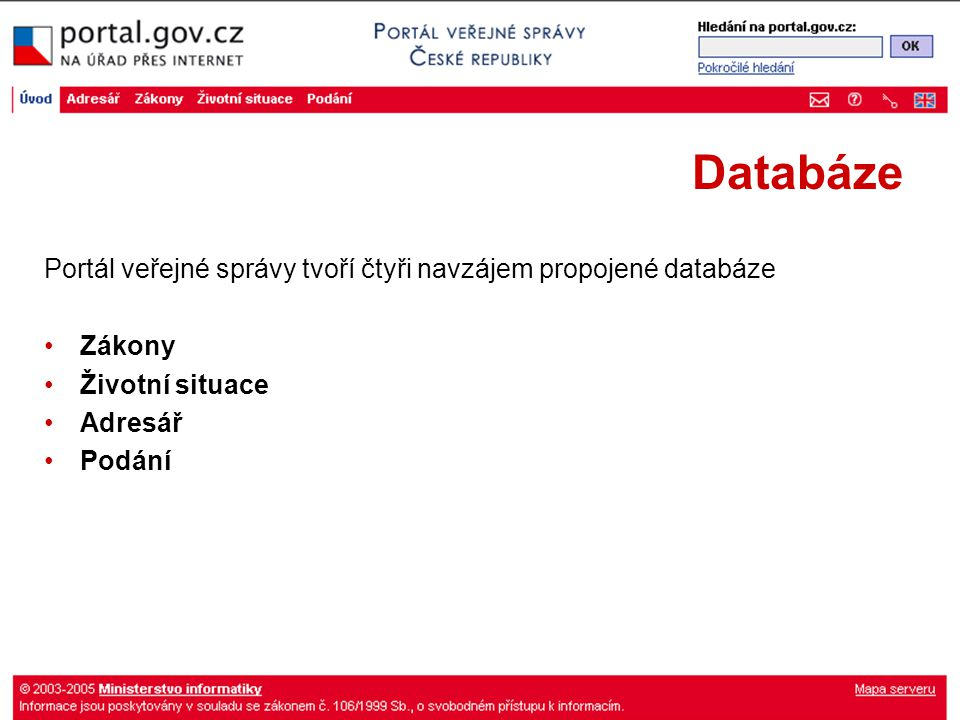 Zákony platné a úplné předpisy ze Sbírky zákonů s možností stažení do PC věstníky krajů smlouva o přistoupení k Evropské unii integrovaný přístup k právním textům Evropské unie (Eur-lex, ISAP)