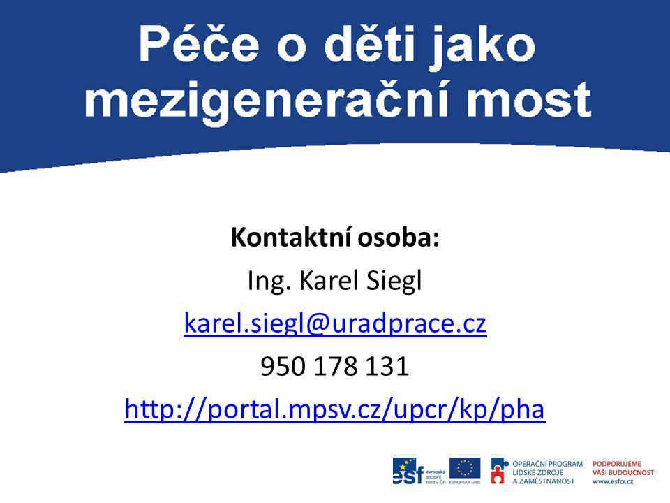 Kontaktní osoba: Ing. Karel Siegl karel.siegl@uradprace.cz 950 178 131 http://portal.mpsv.cz/upcr/kp/pha