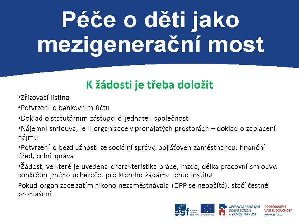 Kontaktní osoba: Mgr. Blanka Brandová blanka.brandova@aa.mpsv.cz 950 178 148