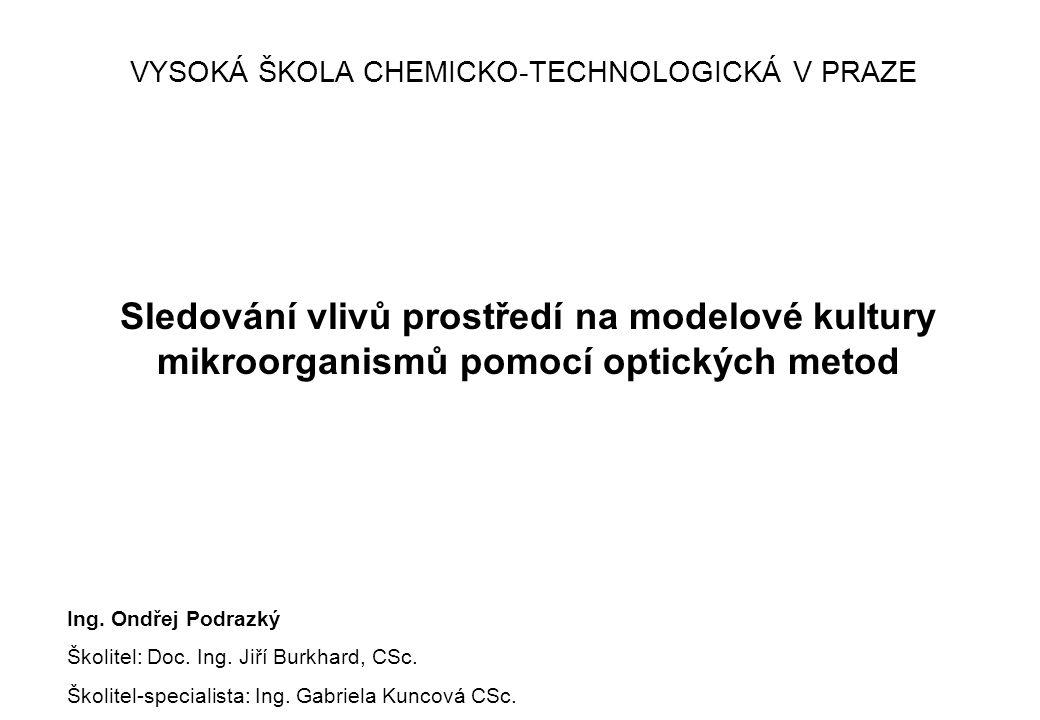 Sledování vlivů prostředí na modelové kultury mikroorganismů pomocí optických metod Ing.