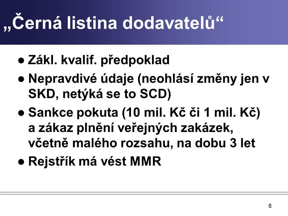 """""""Černá listina dodavatelů Zákl.kvalif."""