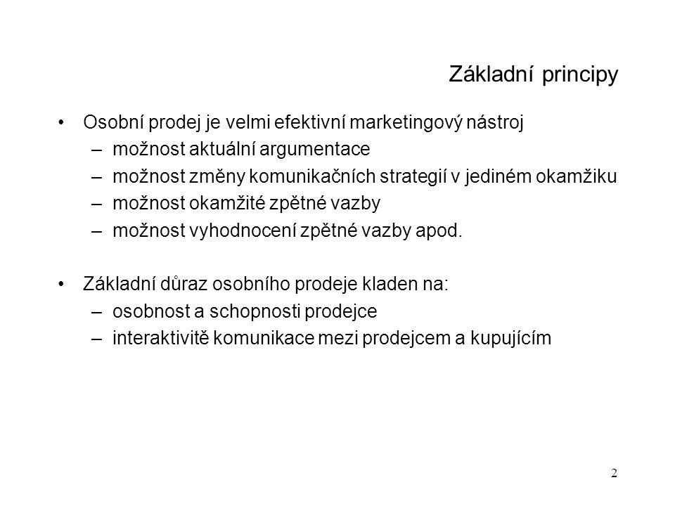13 Prodejní politika Rozdělení podle regionů (oblastí)