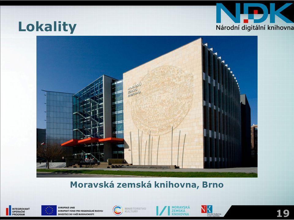 Lokality 19 Moravská zemská knihovna, Brno