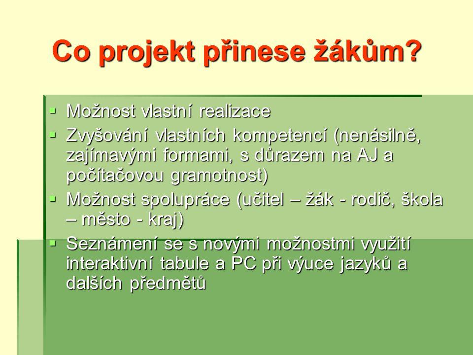 Co projekt přinese žákům.