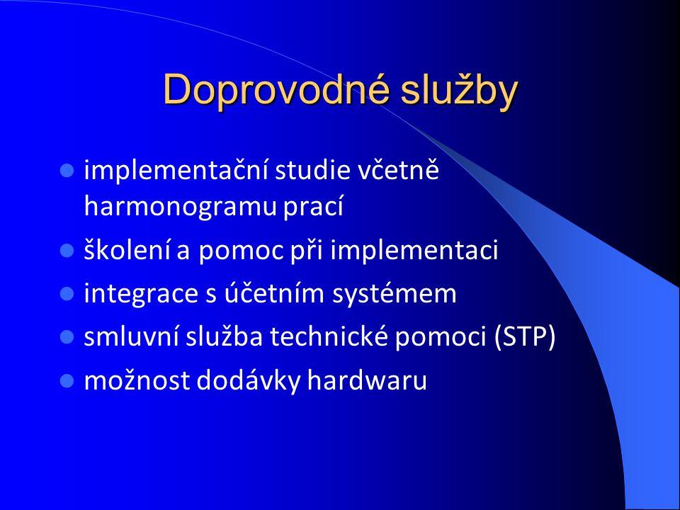 Doprovodné služby implementační studie včetně harmonogramu prací školení a pomoc při implementaci integrace s účetním systémem smluvní služba technick