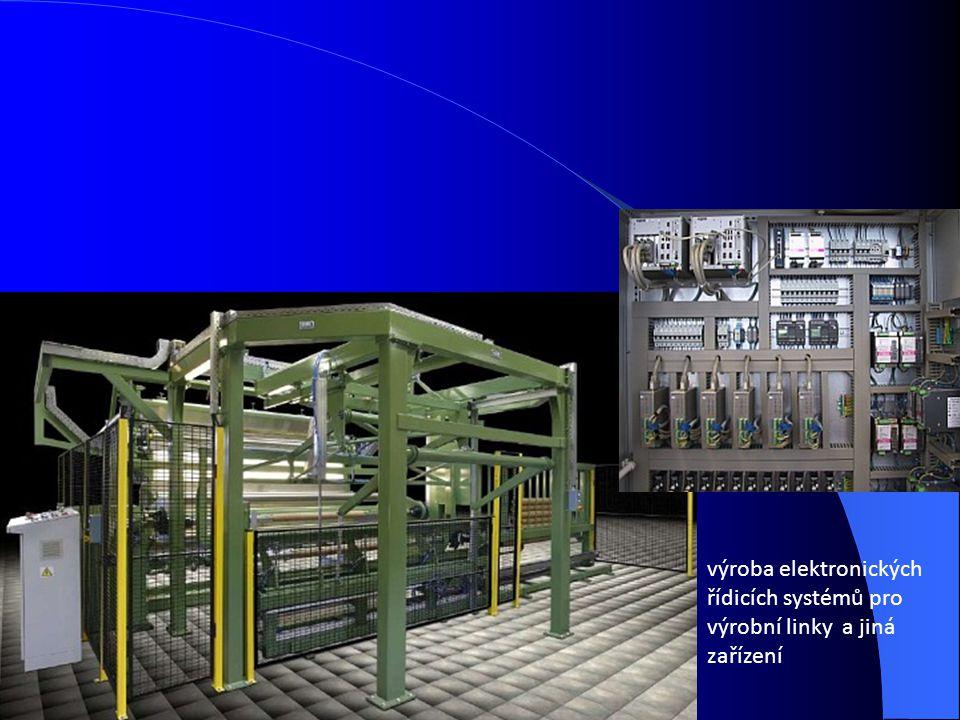 výroba elektronických řídicích systémů pro výrobní linky a jiná zařízení