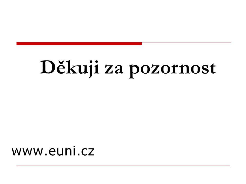 www.euni.cz Děkuji za pozornost