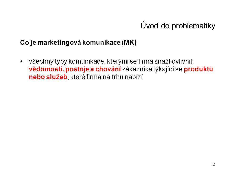 """3 Úvod do problematiky Jaké jsou směry MK (podle cílových skupin) Zákaznické skupiny – """"běžná MK Nezákaznické skupiny – tzv."""