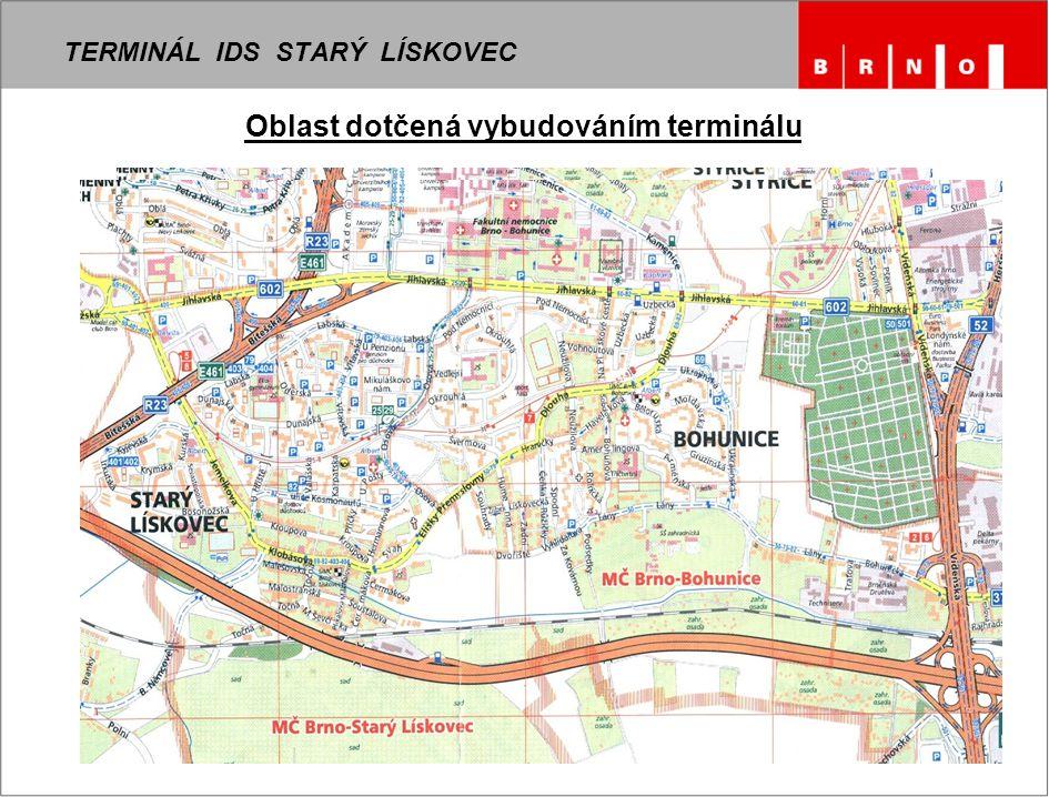 7 TERMINÁL IDS STARÝ LÍSKOVEC Oblast dotčená vybudováním terminálu
