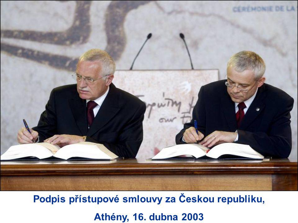 Podpis přístupové smlouvy za Českou republiku, Athény, 16. dubna 2003