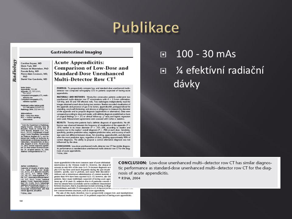  Timing CT  Appendix nenalezen (90 % NPV)