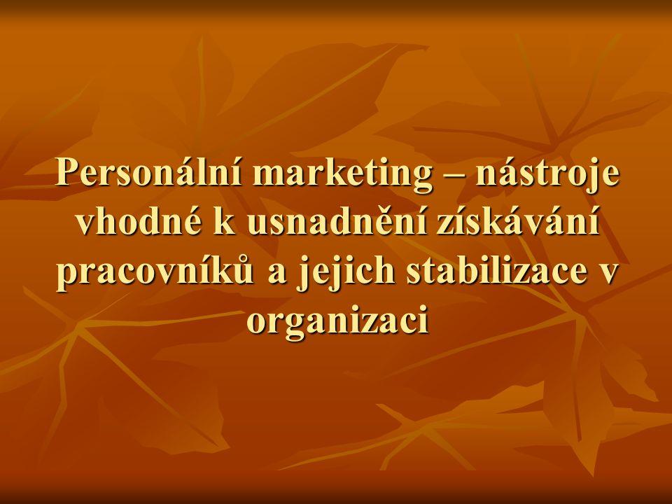 Personální marketing – nástroje vhodné k usnadnění získávání pracovníků a jejich stabilizace v organizaci