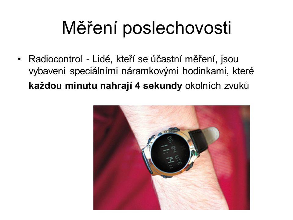 Měření poslechovosti Radiocontrol - Lidé, kteří se účastní měření, jsou vybaveni speciálními náramkovými hodinkami, které každou minutu nahrají 4 sekundy okolních zvuků